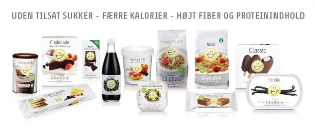kalorielette produkter uden sukker