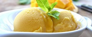 opskrift mango sorbet is