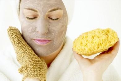 Exfolierende ansigtsmaske