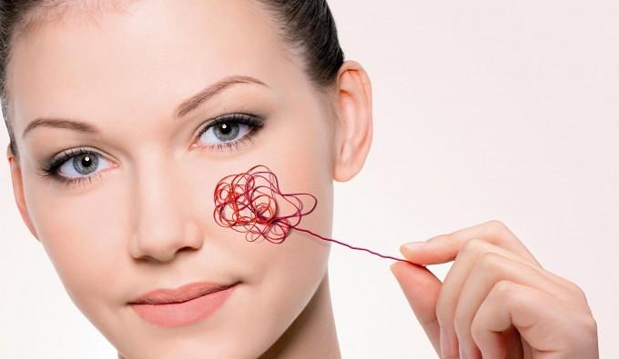 Rødme i huden. Ansigtsbehandling mod rødme.