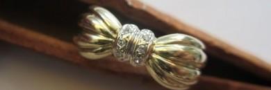 butterfly guldring med brillanter 14-karat