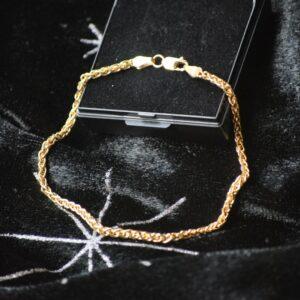 Guld armbånd 9 karat palmekæde
