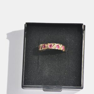 memory guldring med pink rubiner (6)