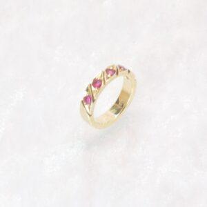 rubin guldring rubinring guld 14 karat brugt og billigt guldsmykke