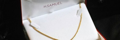 guld collier hals smykke