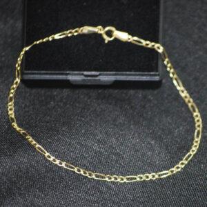 Figaro guld armbånd 8 karat billigt guldarmbånd