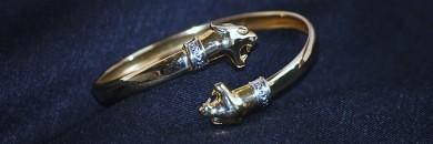 Guld Armring Med Løver 8 karat guldarmbånd