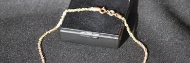 Ankelkæde i guld 14 karat - Brugt og billig guld ankel kæde