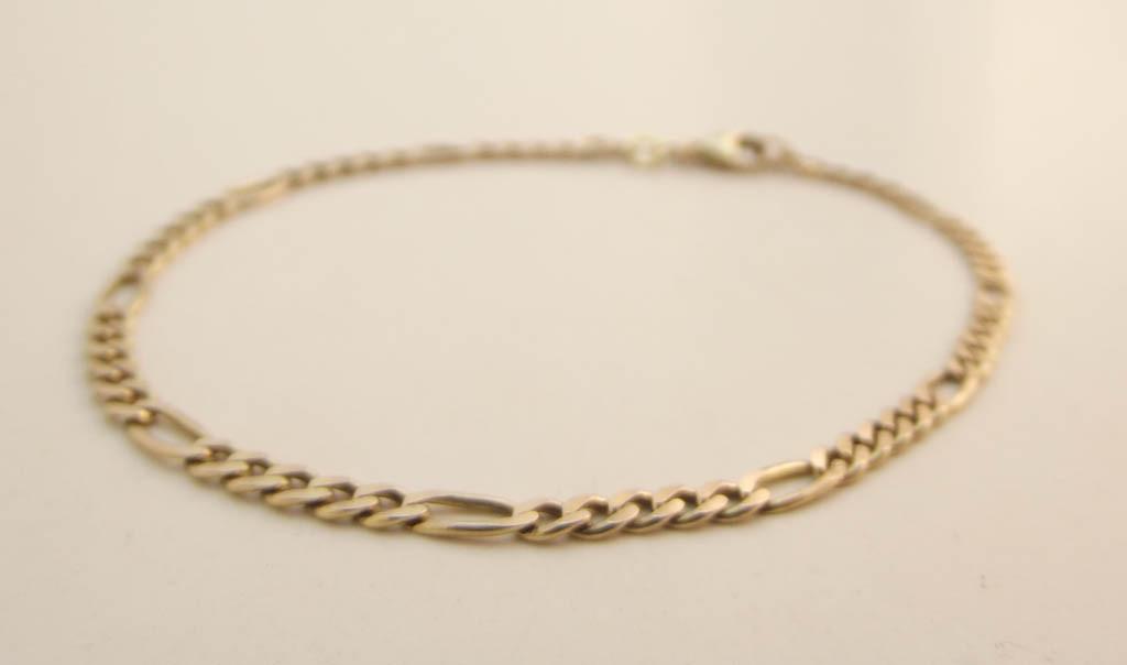 Figaro guld armbånd 3gram 19,5cm 8 karat