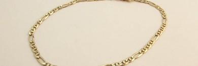 Figaro guld-armbånd 8kt 21.2cm 2.8mm (2)