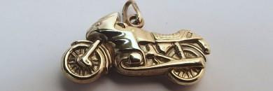 Guld Vedhæng Motorcykel MC til mænd