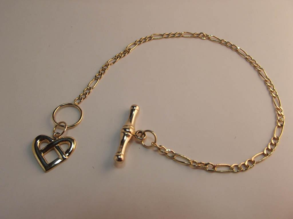 guldarmbånd figaro med charms 9 karat (3)