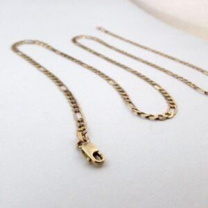 Figaro Guldhalskæde 8 karat billig brugt guld halskæde