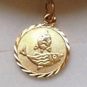 fisken vedhæng guld stjernetegn smykker