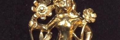 Eksklusivt guld vedhæng med stjernetegnet jomfruen