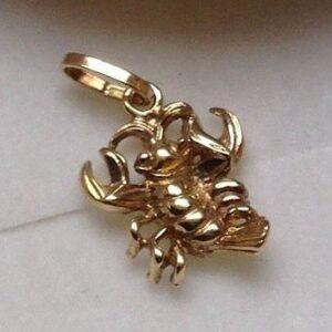 krebs vedhæng guld stjernetegn smykker