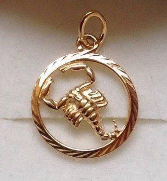 Skorpion - Guld vedhæng med stjernetegnet skorpionen