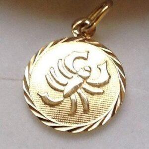 Skorpionen - Guld vedhæng med stjernetegnet skorpion