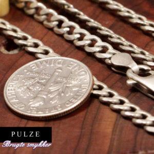 Sterling Sølv Panserkæde til mænd og kvinder