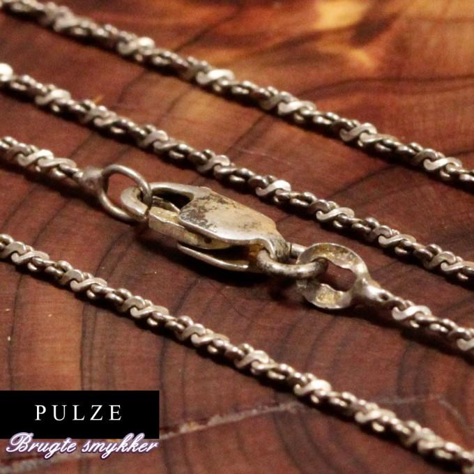 Sterling sølv 925 snoet serpentinkæde