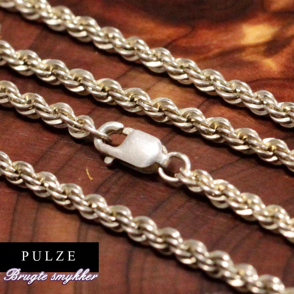 Sterling Sølv 925 reb halskæde