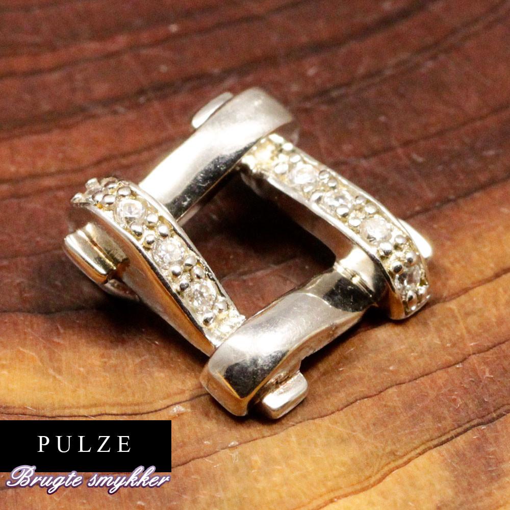 Elegant firkantet vedhæng i Sterling Sølv med zirkoner