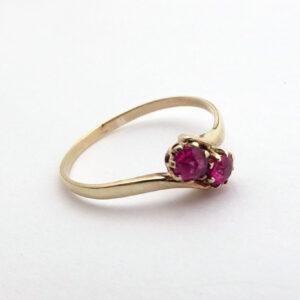 rubinring 8 karat guldring med rubiner brugt og billig rubing guld ring (4)
