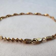 14 karat guldarmbånd i snoet design brugt guld armbånd til kvinder sælges billigt