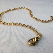 Panser Guld armbånd åben panserkæde armlænke sælges brugt og billigt