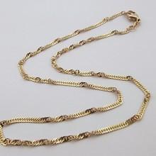 Singapore Guld halskæde i 8 karat