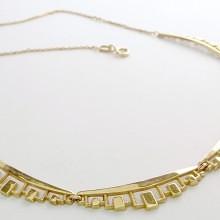 Vintage 50er guld halskæde collier 8 karat billig og brugt til salg