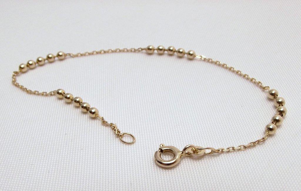 Billig guld armbånd med guld kugler