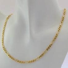 14 Karat Figaro guld halskæde 42 cm, billig figaro guldkæde