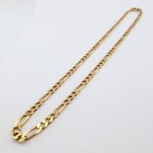 Figaro guldhalskæde til mænd og kvinder, billig figaro guldkæde