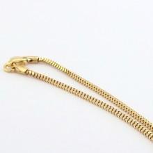 Brugt Firkantet guldhalskæde til salg. Billig guldkæde til kvinder og mænd. Guld halskæde sælges brugt