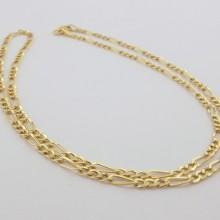 Brugt figaro guldhalskæde sælges. billig figaro halskæde udført i 8 karat guld. 2,4 mm bred figaro guldkæde