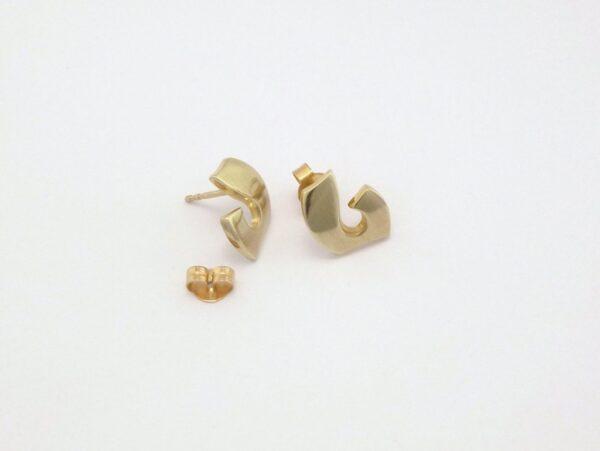 Guld Ørestikker 8kt designer facon - Billige brugte guld øreringe til salg (7)