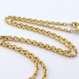 Guld Anker halskæde i 8 karat, brugt guld ankerkæde