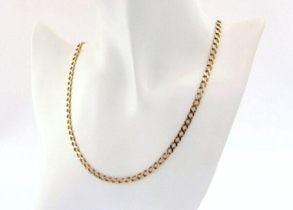 Guld panser halskæde i 8 karat til mænd og kvinder, billig panserkæde