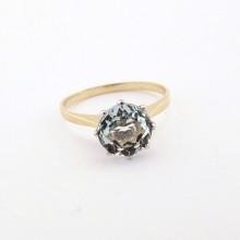 Guldring med hessonit sten - Brugt guldring med ædelsten