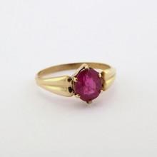 Guldring med rubin til salg brugt. Billig Rubinring i 8 karat guld