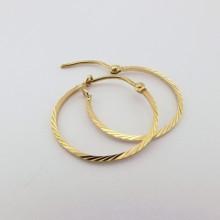 Retro guldøreringe i 8 karat guld kreoler brugte retro smykker billigt til salg øreringe kreoler (6)