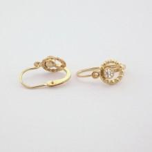 14 karats øreringe m. sten -Billige brugte guld øreringe 14 K brugte smykker