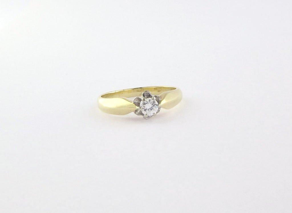Solitaire Brillant ring 14 karat guld 0.23 ct (3)