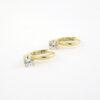 Guld Øreringe 8kt med zirkonia sten til salg billige og brugte guldørering