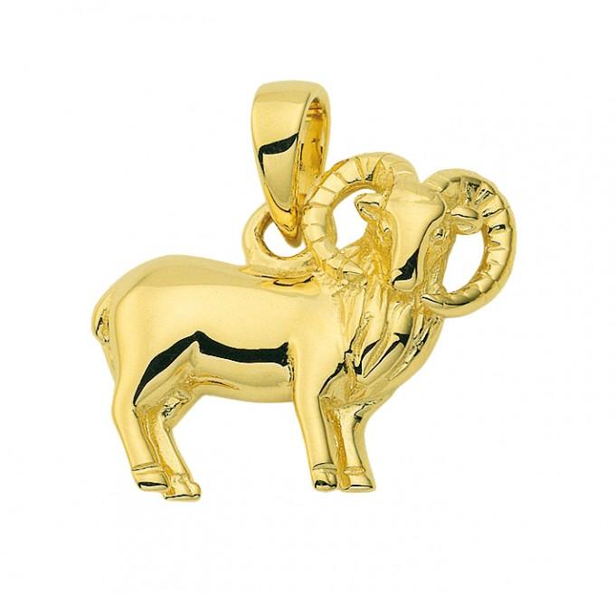 Stjernetegn Guld vedhæng vædder charm i guld med stjernetegnet vædderen