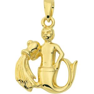 Stjernetegn Guld vedhæng vandmand charm i guld med stjernetegnet vandmanden