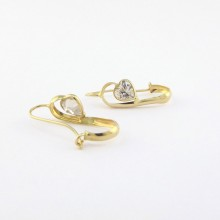 18 karat øreringe med hjerter brugt til salg. Billige 18k guld-øreringe sælges brugte