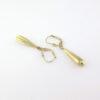 Guld øreringe med vedhæng i 8 karat