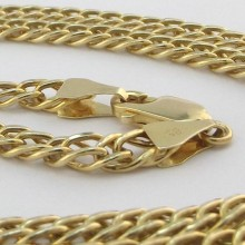 Dobbelt Panser guld halskæde 14 karat UNISEX